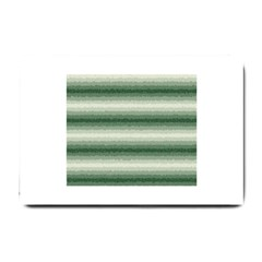 Horizontal Dark Green Curly Stripes Small Door Mat by BestCustomGiftsForYou