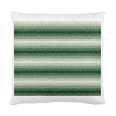 Horizontal Dark Green Curly Stripes Cushion Case (single Sided)  by BestCustomGiftsForYou