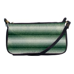 Horizontal Dark Green Curly Stripes Evening Bag by BestCustomGiftsForYou