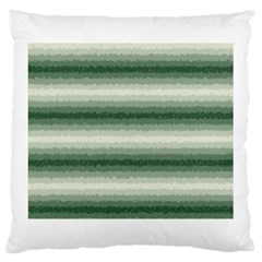 Horizontal Dark Green Curly Stripes Large Cushion Case (two Sided)  by BestCustomGiftsForYou