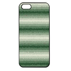 Horizontal Dark Green Curly Stripes Apple Iphone 5 Seamless Case (black) by BestCustomGiftsForYou