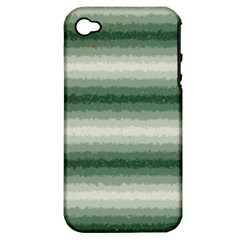 Horizontal Dark Green Curly Stripes Apple Iphone 4/4s Hardshell Case (pc+silicone) by BestCustomGiftsForYou