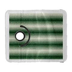 Horizontal Dark Green Curly Stripes Samsung Galaxy S  Iii Flip 360 Case by BestCustomGiftsForYou