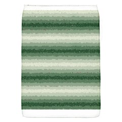 Horizontal Dark Green Curly Stripes Removable Flap Cover (small) by BestCustomGiftsForYou