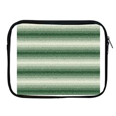 Horizontal Dark Green Curly Stripes Apple iPad Zippered Sleeve by BestCustomGiftsForYou