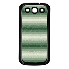 Horizontal Dark Green Curly Stripes Samsung Galaxy S3 Back Case (black) by BestCustomGiftsForYou