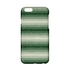 Horizontal Dark Green Curly Stripes Apple Iphone 6 Hardshell Case by BestCustomGiftsForYou