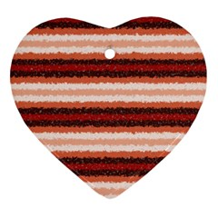 Horizontal Native American Curly Stripes   1 Heart Ornament by BestCustomGiftsForYou