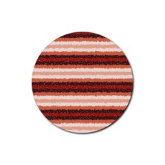 Horizontal Native American Curly Stripes   1 Drink Coaster (round) by BestCustomGiftsForYou