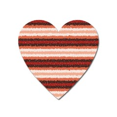 Horizontal Native American Curly Stripes   1 Magnet (heart) by BestCustomGiftsForYou