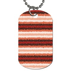 Horizontal Native American Curly Stripes   1 Dog Tag (two Sided)  by BestCustomGiftsForYou