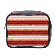 Horizontal Native American Curly Stripes   1 Mini Travel Toiletry Bag (two Sides) by BestCustomGiftsForYou