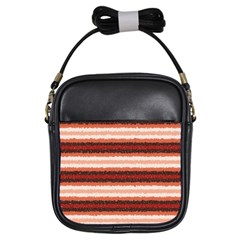 Horizontal Native American Curly Stripes   1 Girl s Sling Bag by BestCustomGiftsForYou