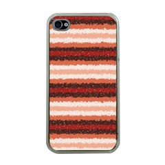 Horizontal Native American Curly Stripes   1 Apple Iphone 4 Case (clear) by BestCustomGiftsForYou