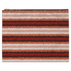 Horizontal Native American Curly Stripes   1 Cosmetic Bag (xxxl) by BestCustomGiftsForYou