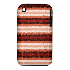 Horizontal Native American Curly Stripes   1 Apple Iphone 3g/3gs Hardshell Case (pc+silicone) by BestCustomGiftsForYou