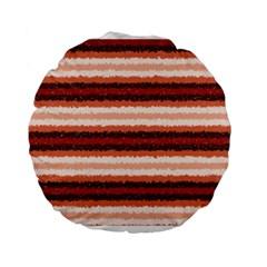 Horizontal Native American Curly Stripes   1 15  Premium Round Cushion  by BestCustomGiftsForYou