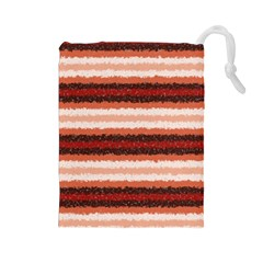 Horizontal Native American Curly Stripes   1 Drawstring Pouch (large) by BestCustomGiftsForYou