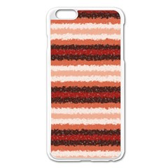 Horizontal Native American Curly Stripes   1 Apple Iphone 6 Plus Enamel White Case by BestCustomGiftsForYou