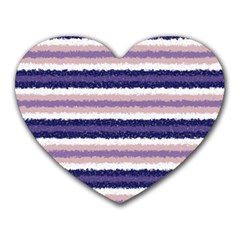 Horizontal Native American Curly Stripes   2 Mouse Pad (heart) by BestCustomGiftsForYou