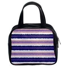 Horizontal Native American Curly Stripes   2 Classic Handbag (two Sides) by BestCustomGiftsForYou