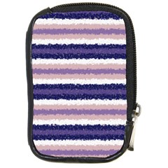 Horizontal Native American Curly Stripes   2 Compact Camera Leather Case by BestCustomGiftsForYou