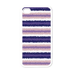 Horizontal Native American Curly Stripes   2 Apple Iphone 4 Case (white) by BestCustomGiftsForYou
