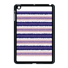Horizontal Native American Curly Stripes - 2 Apple iPad Mini Case (Black) by BestCustomGiftsForYou