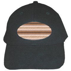 Horizontal Native American Curly Stripes   3 Black Baseball Cap by BestCustomGiftsForYou