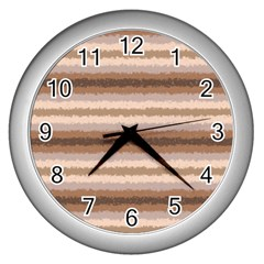 Horizontal Native American Curly Stripes   3 Wall Clock (silver) by BestCustomGiftsForYou