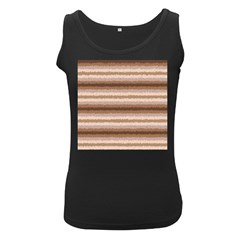 Horizontal Native American Curly Stripes   3 Women s Tank Top (black) by BestCustomGiftsForYou