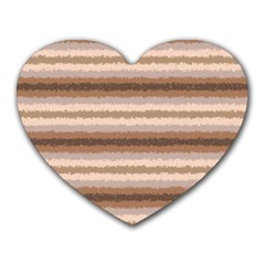 Horizontal Native American Curly Stripes   3 Mouse Pad (heart) by BestCustomGiftsForYou