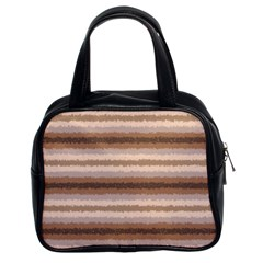 Horizontal Native American Curly Stripes   3 Classic Handbag (two Sides) by BestCustomGiftsForYou
