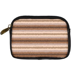 Horizontal Native American Curly Stripes   3 Digital Camera Leather Case by BestCustomGiftsForYou