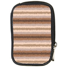 Horizontal Native American Curly Stripes   3 Compact Camera Leather Case by BestCustomGiftsForYou
