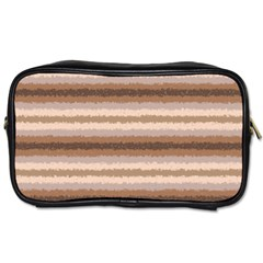 Horizontal Native American Curly Stripes   3 Travel Toiletry Bag (two Sides) by BestCustomGiftsForYou