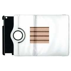 Horizontal Native American Curly Stripes   3 Apple Ipad 2 Flip 360 Case by BestCustomGiftsForYou