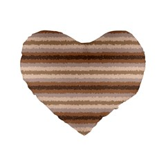Horizontal Native American Curly Stripes   3 16  Premium Heart Shape Cushion  by BestCustomGiftsForYou