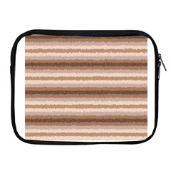 Horizontal Native American Curly Stripes   3 Apple Ipad Zippered Sleeve by BestCustomGiftsForYou