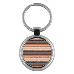 Horizontal Native American Curly Stripes   4 Key Chain (round) by BestCustomGiftsForYou