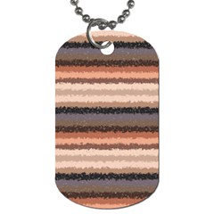 Horizontal Native American Curly Stripes   4 Dog Tag (two Sided)  by BestCustomGiftsForYou