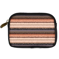 Horizontal Native American Curly Stripes   4 Digital Camera Leather Case by BestCustomGiftsForYou