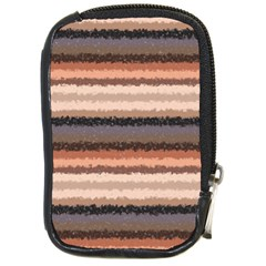 Horizontal Native American Curly Stripes   4 Compact Camera Leather Case by BestCustomGiftsForYou