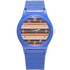 Horizontal Native American Curly Stripes   4 Plastic Sport Watch (small) by BestCustomGiftsForYou
