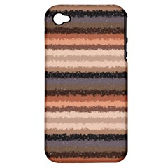 Horizontal Native American Curly Stripes   4 Apple Iphone 4/4s Hardshell Case (pc+silicone) by BestCustomGiftsForYou