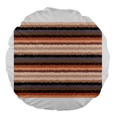 Horizontal Native American Curly Stripes   4 18  Premium Round Cushion  by BestCustomGiftsForYou