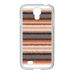 Horizontal Native American Curly Stripes   4 Samsung Galaxy S4 I9500/ I9505 Case (white) by BestCustomGiftsForYou