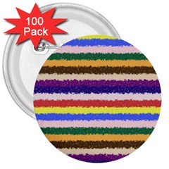 Horizontal Vivid Colors Curly Stripes   1 3  Button (100 Pack) by BestCustomGiftsForYou
