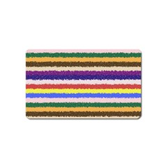 Horizontal Vivid Colors Curly Stripes   1 Magnet (name Card) by BestCustomGiftsForYou