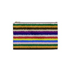 Horizontal Vivid Colors Curly Stripes   1 Cosmetic Bag (small) by BestCustomGiftsForYou